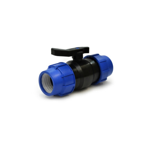 Ball valves with compression fittings